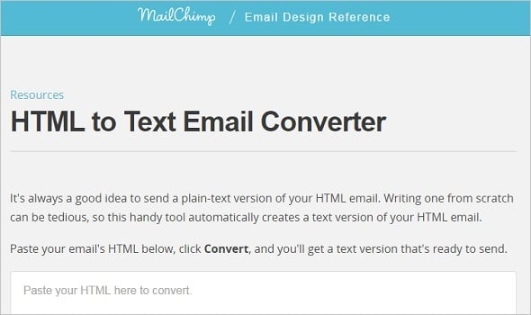 Email Marketing - HTML to Text Converter