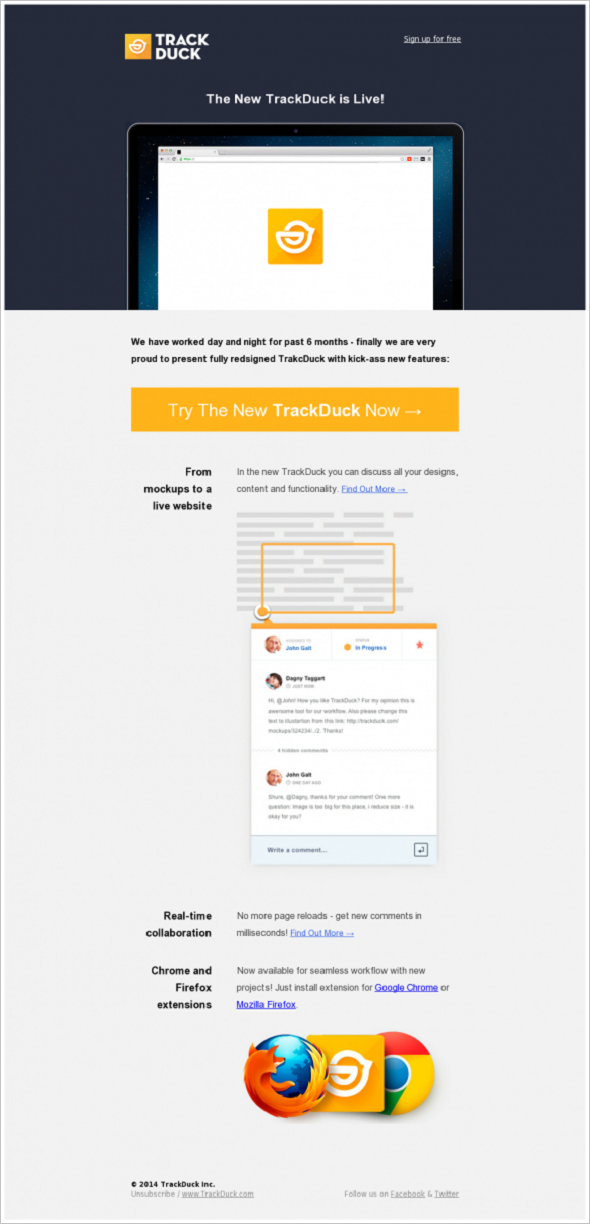 Email Marketing - TrackDuck Launch