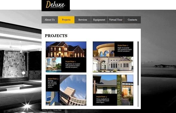 Interior Design Website Template in Black
