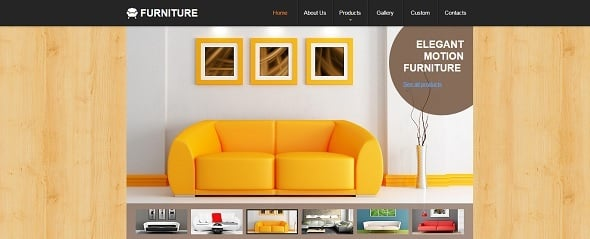 Website Template for Furniture Store