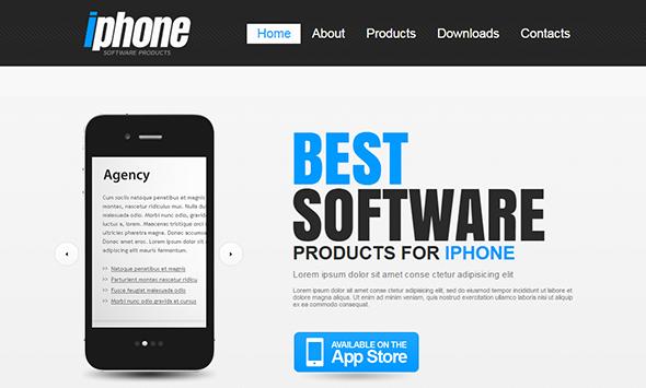 create app website template