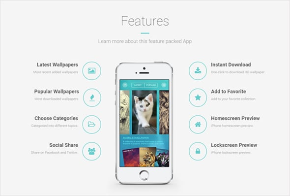 create app website features