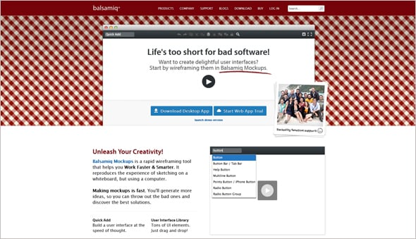 UX Design Tools Balsamiq