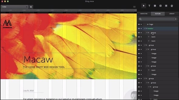 Web Design Tools 2015 - Macaw
