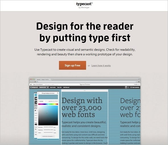 Web Design Tools 2015 - Typecast