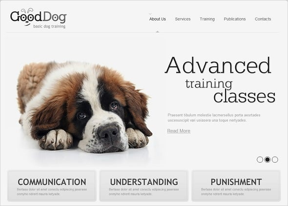 Create a website for dog breeders - Clean Website Template