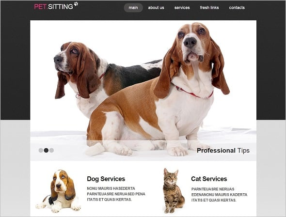 Create a website for dog breeders - Pet Sitting Website
