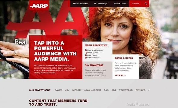 Website Usability - AARP