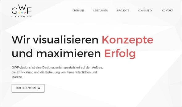 Website Usability - GWF Designs