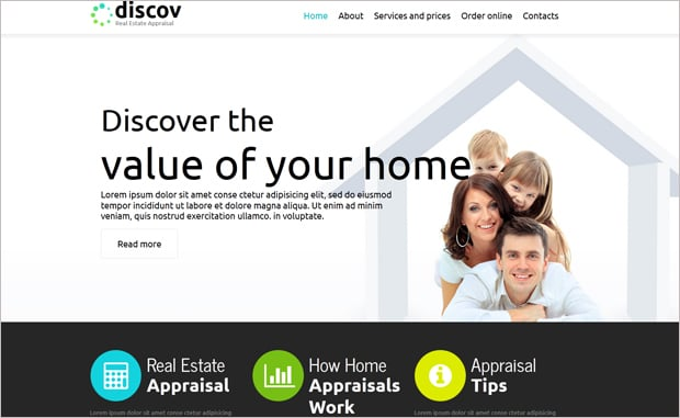 Flat Style Real Estate Web Design