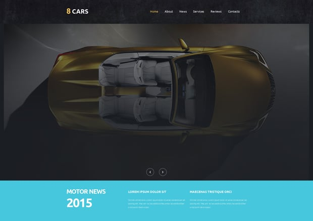 MotoCMS 3.0 Responsive Website Templates - Car