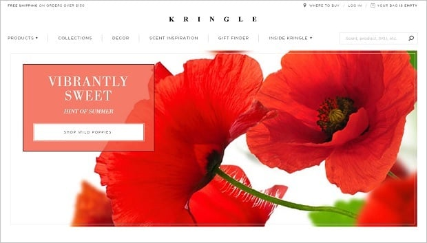 Website Design Mistakes -  Kringle Candle