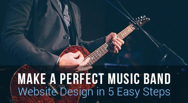 Music Website Design Main