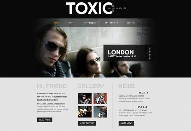 MotoCMS Band Website Design