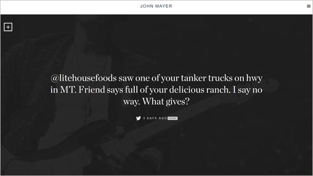 John Mayer Website Design