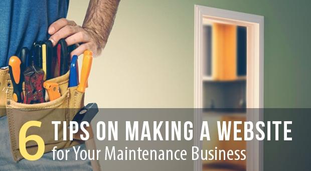 Create a Maintenance Business Website