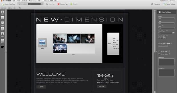 Band Website Design by MotoCMS