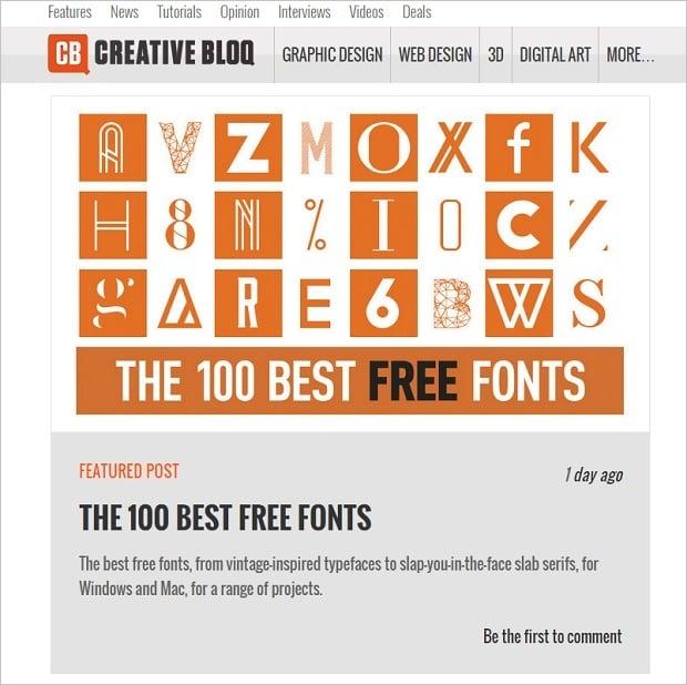 Best Web Design Blogs 2015 - creativebloq