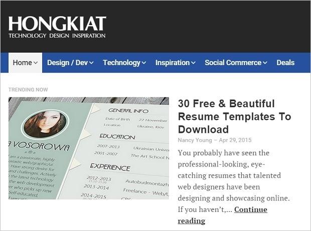 Best Web Design Blogs 2015 - hongkiat
