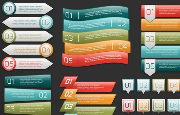 Best Web Design Articles May - 5 Sets of Infographic Banners