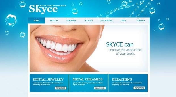 Create a Dental Website - Blue Template