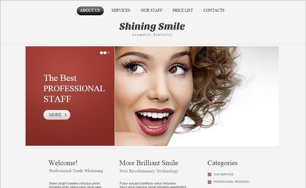 Create a Dental Website - Bi-color website