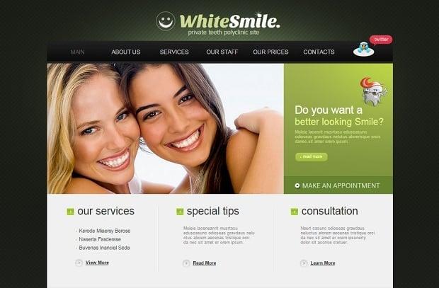 Create a Dental Website - Dark-Toned Template