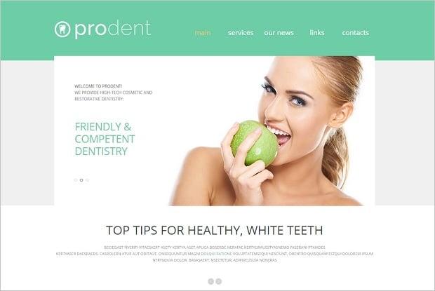 Create a Dental Website - Clear Template