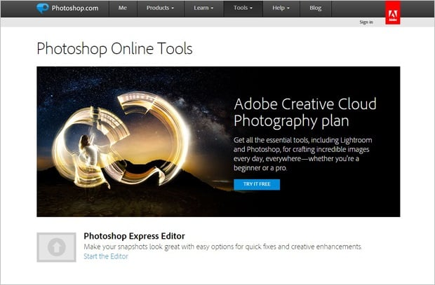Image Editing Software - Photoshop Express