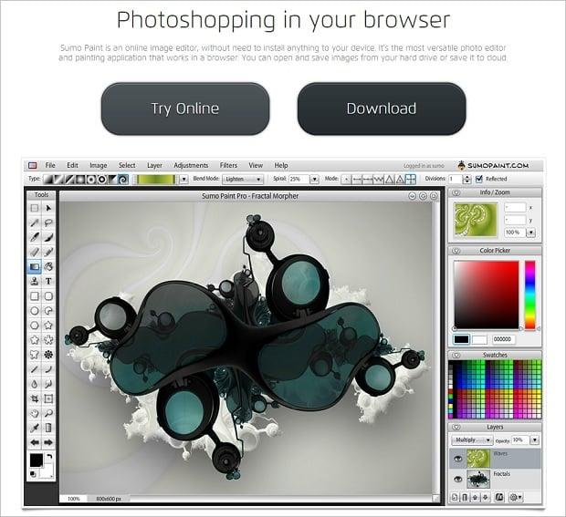 Image Editing Software - Sumopaint