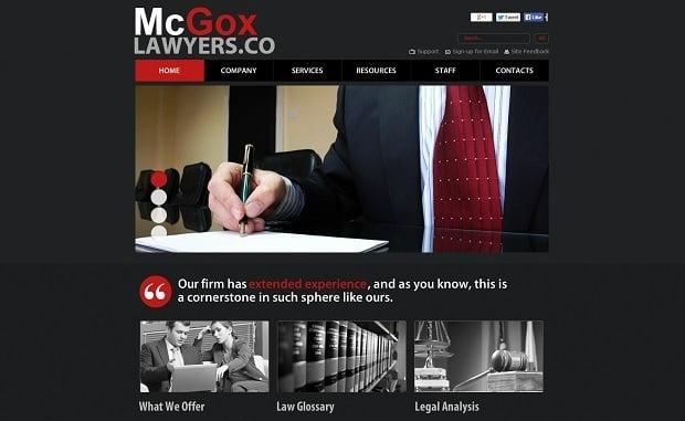 Legal Website Design - Dark-Toned Lawyer Website Template