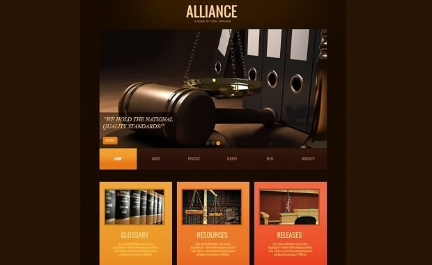 Legal Website Design - Lawyer Website Template with Creative Slider