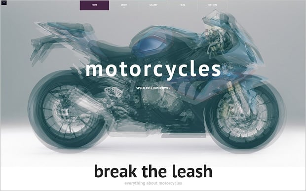 MotoCMS Independence day promo - Bike Template