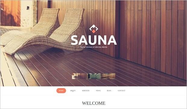 MotoCMS Independence day promo - Sauna Template