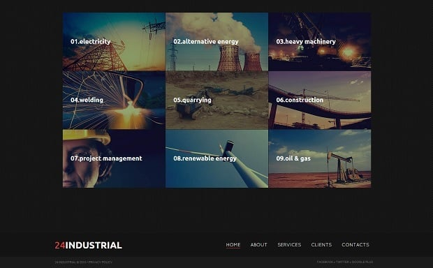 MotoCMS Independence day promo - Industrial Web Template