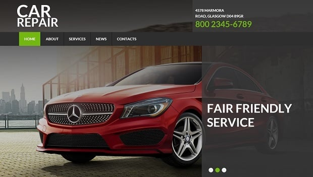 MotoCMS Independence day promo - Car Template