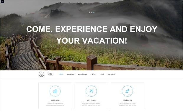 MotoCMS Independence day promo - Travel Template