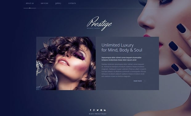 MotoCMS Independence day promo - Beauty template