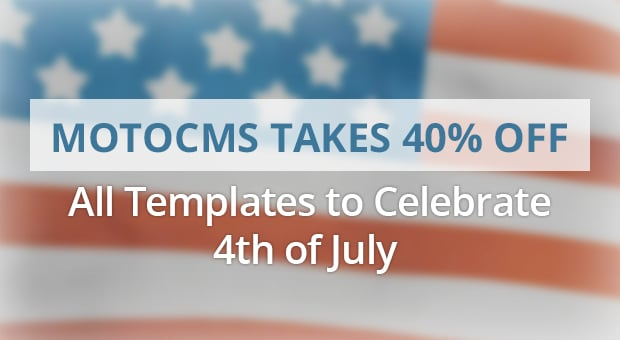 MotoCMS Independence Day Promo