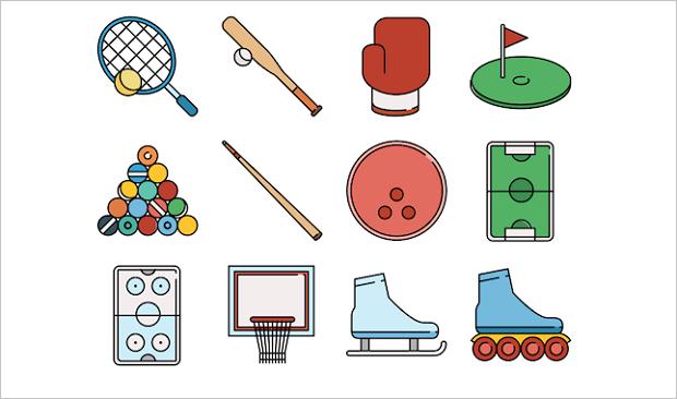 Best web design articles June - sport icons
