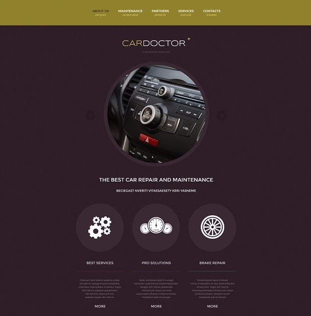 Car Repair Website Templates - rounded elements