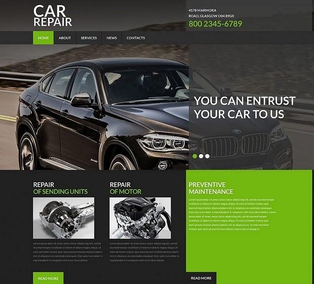 Car Repair Website Templates - transparent decorations