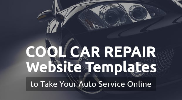 Car Repair Website Templates - main