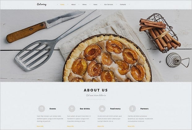Responsive Design Mistakes - Food Template