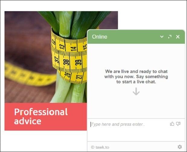 tawk - chat widget window