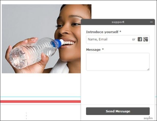 zopim - chat widget