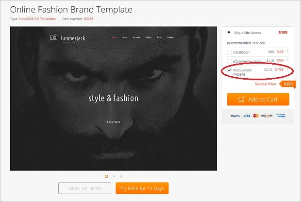 motocms special offer - template