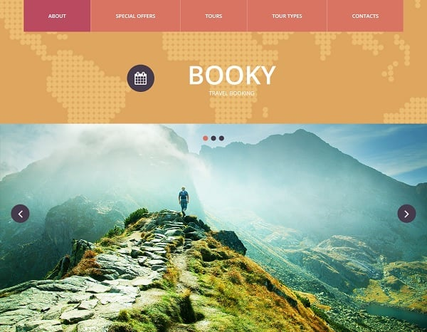 travel website templates - vivid
