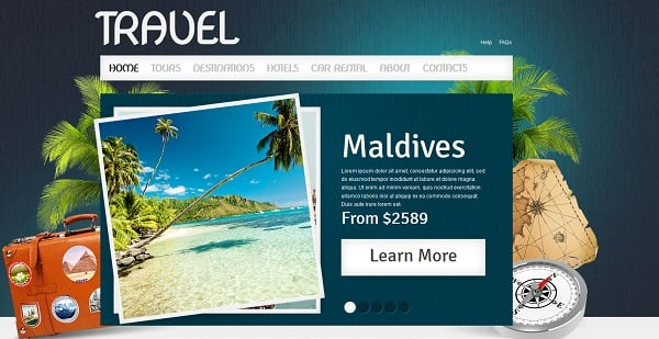 travel website templates - picture background