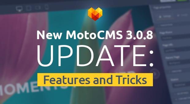 MotoCMS 3.0.8 Update - main